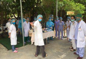 Bệnh viện CTCH – PTTH Huế diễn tập phòng, chống dịch COVID-19