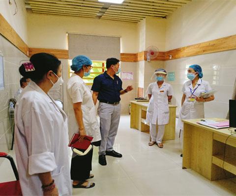 Sở Y tế kiểm tra về công tác phòng chống dịch Covid – 19 tại BV CTCH – PTTH Huế, Phòng khám đa khoa 102 Phạm Văn Đồng và công tác tiếp nhận,khám bệnh ban đầu